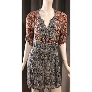 Anthropologie Tiny Floral print 3/4 Sleeve dress
